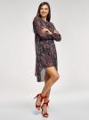 Платье шифоновое с асимметричным низом oodji для женщины (черный), 11913032/38375/2966E - вид 6