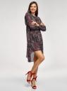 Платье шифоновое с асимметричным низом oodji #SECTION_NAME# (черный), 11913032/38375/2966E - вид 6