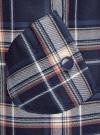Платье клетчатое с карманами и воротником-хомутом oodji для женщины (синий), 11910058-2/37812/7935C - вид 5
