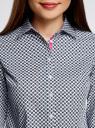 Рубашка прямого силуэта хлопковая oodji #SECTION_NAME# (серый), 11403204-3/38544/1079G - вид 4
