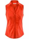 Рубашка базовая без рукавов oodji #SECTION_NAME# (красный), 11405063-6/45510/4500N