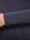 Футболка с длинным рукавом и вырезом-капелькой на спине oodji #SECTION_NAME# (синий), 14201034-1/46147/7941P - вид 5