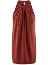 Платье прямое с завязками на спине oodji для женщины (красный), 24005125/42788/3100N