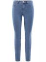 Джинсы skinny с высокой посадкой oodji для женщины (синий), 12104065B/46253/7000W