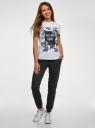 Комплект трикотажных брюк (2 пары) oodji для женщины (черный), 16700030-15T2/46173/2900N