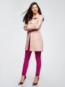 Пальто прямого силуэта из фактурной ткани oodji #SECTION_NAME# (розовый), 10104043/43312/5400N - вид 6