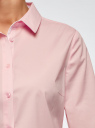 Блузка хлопковая с рукавом 3/4 oodji #SECTION_NAME# (розовый), 13K03005B/26357/4010B - вид 5