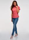 Рубашка хлопковая с нагрудными карманами oodji #SECTION_NAME# (красный), 13L02001B/45510/4300N - вид 6