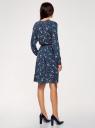 Платье вискозное с ремнем oodji #SECTION_NAME# (синий), 21912001-2B/26346/7940F - вид 3