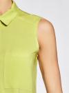 Топ вискозный с нагрудным карманом oodji для женщины (зеленый), 11411108B/26346/6A00N - вид 5