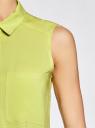 Топ вискозный с нагрудным карманом oodji #SECTION_NAME# (зеленый), 11411108B/26346/6A00N - вид 5