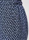 Брюки вискозные на завязках oodji для женщины (синий), 13F11001-1B/26346/7970G