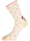 Комплект носков из 3 пар oodji #SECTION_NAME# (разноцветный), 57102901T3/47469/19 - вид 4