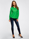 Рубашка базовая с нагрудными карманами oodji #SECTION_NAME# (зеленый), 11403222B/42468/6A00N - вид 6