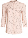 Блузка вискозная с регулировкой длины рукава oodji #SECTION_NAME# (розовый), 11403225-3B/26346/5429G