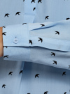 Блузка вискозная А-образного силуэта oodji #SECTION_NAME# (синий), 21411113-1B/48458/7029O - вид 5