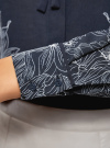 Блузка свободного силуэта с завязками oodji #SECTION_NAME# (синий), 21411094-1/36215/7912F - вид 5