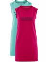 Платье из ткани пике (комплект из 2 штук) oodji для женщины (разноцветный), 14005074T2/46149/19V7P