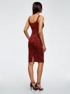 Платье-майка трикотажное oodji #SECTION_NAME# (красный), 14015007-3B/37809/4959E - вид 3
