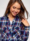 Рубашка с нагрудными карманами oodji #SECTION_NAME# (синий), 13L11006-1B/42850/7945C - вид 4