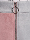 Юбка из искусственной замши на молнии oodji #SECTION_NAME# (розовый), 18H05018/47301/4A23B - вид 4