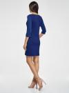 Платье трикотажное с рукавом 3/4 oodji для женщины (синий), 24001100-3/45284/7500N - вид 3