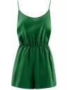 Комбинезон из вискозы с резинкой на талии oodji для женщины (зеленый), 13J00001/45470/6E00N