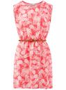 Платье вискозное без рукавов oodji #SECTION_NAME# (красный), 11910073B/26346/4330O
