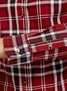 Рубашка принтованная хлопковая oodji #SECTION_NAME# (красный), 11406019/43593/4529C - вид 5