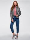 Куртка с трикотажными манжетами и воротником-стойкой oodji #SECTION_NAME# (серый), 10204056/47172/2500N - вид 6