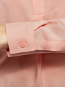 Блузка вискозная А-образного силуэта oodji #SECTION_NAME# (розовый), 21411113B/26346/5401N - вид 5