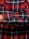 Рубашка клетчатая с нагрудными карманами oodji #SECTION_NAME# (красный), 13L00001-2/48869/4579C - вид 5