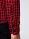 Рубашка хлопковая в клетку oodji #SECTION_NAME# (красный), 3L310168M/48837N/4529C - вид 5