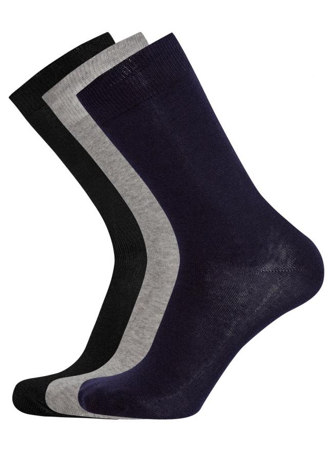 Комплект из трех пар хлопковых носков oodji для мужчины (разноцветный), 7O233000T3/47469/1907M