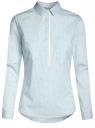Рубашка приталенная с нагрудными карманами oodji для женщины (синий), 11403222-4/46440/7010S