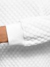 Свитшот базовый из фактурной ткани oodji для женщины (белый), 24801010-19/49344/1201N - вид 5