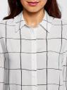 Блузка вискозная прямого силуэта oodji #SECTION_NAME# (белый), 11411098-3/24681/1229C - вид 4