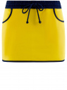 Юбка трикотажная на эластичном поясе oodji #SECTION_NAME# (желтый), 14101098B/46155/5179B