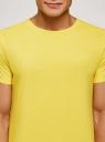 Футболка базовая oodji для мужчины (желтый), 5B621002M/44135N/5000N