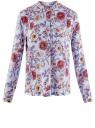 Блузка вискозная А-образного силуэта oodji #SECTION_NAME# (синий), 21411113B/26346/7045F