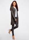Кардиган без застежки с карманами oodji для женщины (серый), 63212589/45904/2500M - вид 6