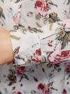 Блузка вискозная А-образного силуэта oodji #SECTION_NAME# (белый), 21411113B/26346/3041F - вид 5