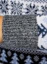 Свитер прямого силуэта с зимним узором oodji для женщины (серый), 64407132-2/42045/2310J