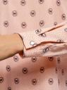 Блузка прямого силуэта с отложным воротником oodji #SECTION_NAME# (розовый), 11411181/43414/4029U - вид 5