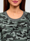 Свитшот хлопковый прямого силуэта oodji #SECTION_NAME# (серый), 14807021-1B/46919/2025O - вид 4