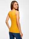 Майка базовая oodji для женщины (желтый), 24315001B/46147/5200N