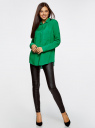 Блузка базовая из вискозы с карманами oodji #SECTION_NAME# (зеленый), 11400355-4/26346/6D00N - вид 6
