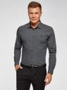 Рубашка хлопковая с нагрудным карманом oodji #SECTION_NAME# (серый), 3L110329M-1/44425N/2925G - вид 2