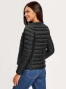 Куртка стеганая с круглым вырезом oodji для женщины (черный), 10204040B/33445/2900N