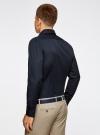 Рубашка базовая из фактурной ткани oodji #SECTION_NAME# (синий), 3B110017M/47184N/7900N - вид 3